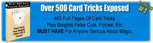 Over 500 Card tricks Revealed